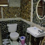LAS CABANAS RESORT – PALAWAN, PHILIPPINES - The mosaic bathroom