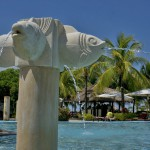 THE CRIMSON RESORT & SPA – MACTAN, CEBU – PHILIPPINES - Fish spraying water in the pool